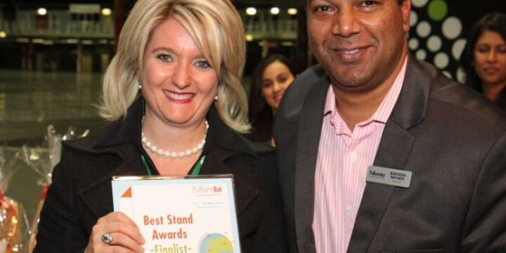 Erica Accepting Prize From Naveen Pather Director Of Future Ed Small
