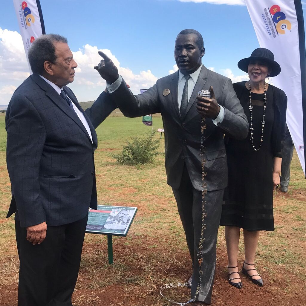 Martin Luther King Jnr Statue Unveiling